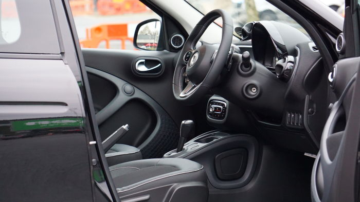 black interior of a car