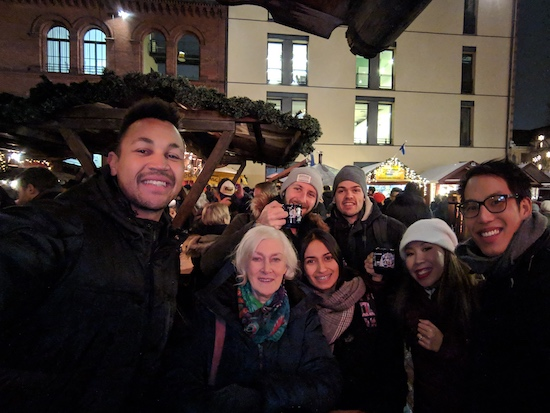 meeting up  with berlin locals at the kulturbrauerei christmas market