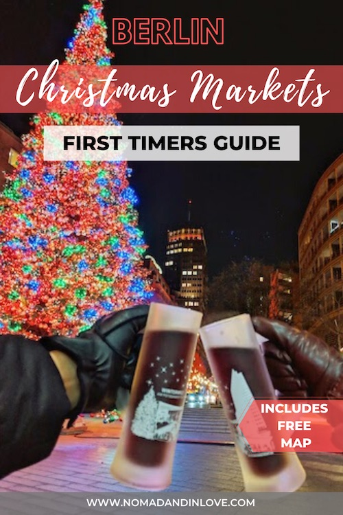 pinterest graphic of first timer's guide to berlin christmas markets