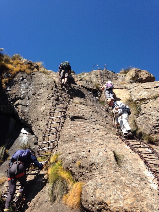 the two sections of the chain ladders hike south africa