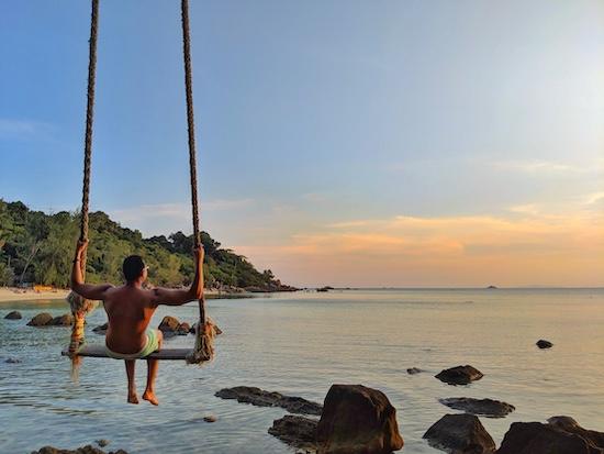 sunset beach in koh phangan