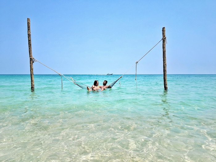 sea hammocks on koh phangan beach
