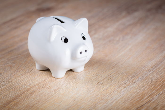 piggy bank to save money buying scuba gear
