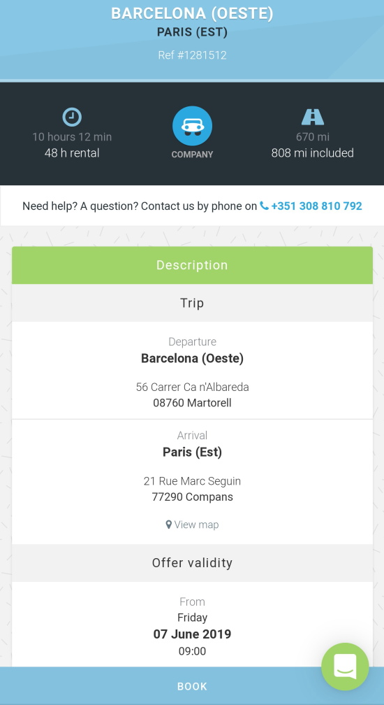 car rental for €1
