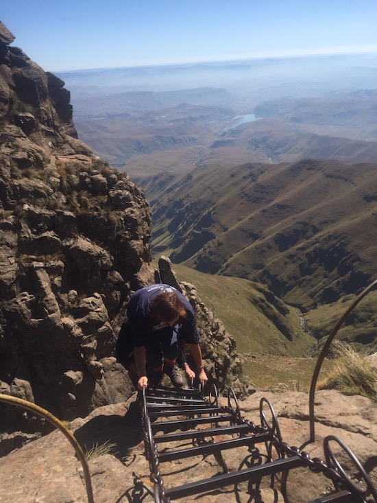 chain ladders hike in royal natal national park