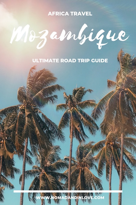 pinterest image for driving in mozambique travel guide