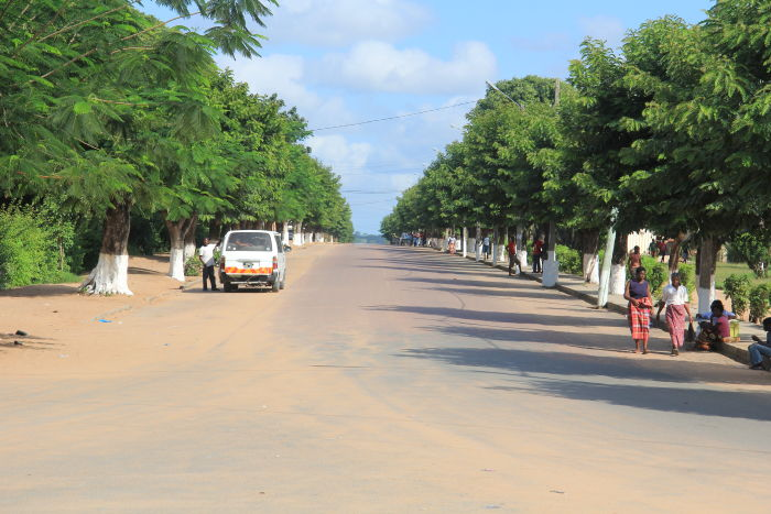 driving along the main road leading to Bilene in Mozambique