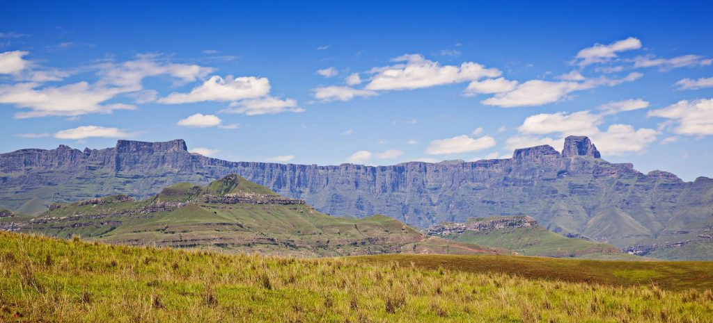 trekking in the royal natal national park in south africa