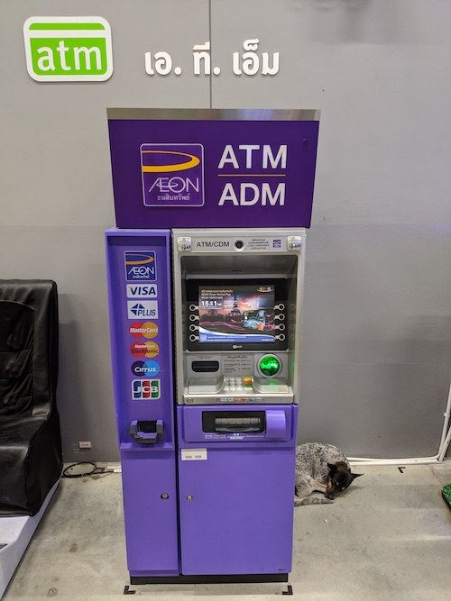 travel tip for withdrawing money in krabi thailand by ATMs