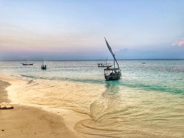 traditional dhow boats in zanzibar