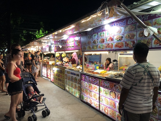 night market in krabi ao nang