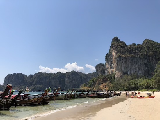 getting from aonang to railay beach