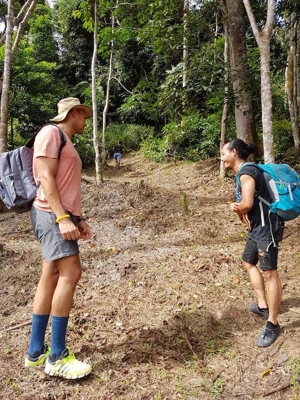 footwear for jungle trekking in sumatra
