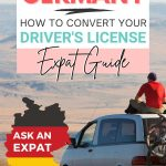 pinterest save image for a moving to germany guide that explains how to convert a foreign driver's license to a German driving license in Germany