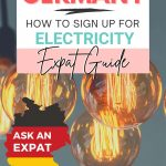 pinterest save image for on how to sign up for electricity in Germany