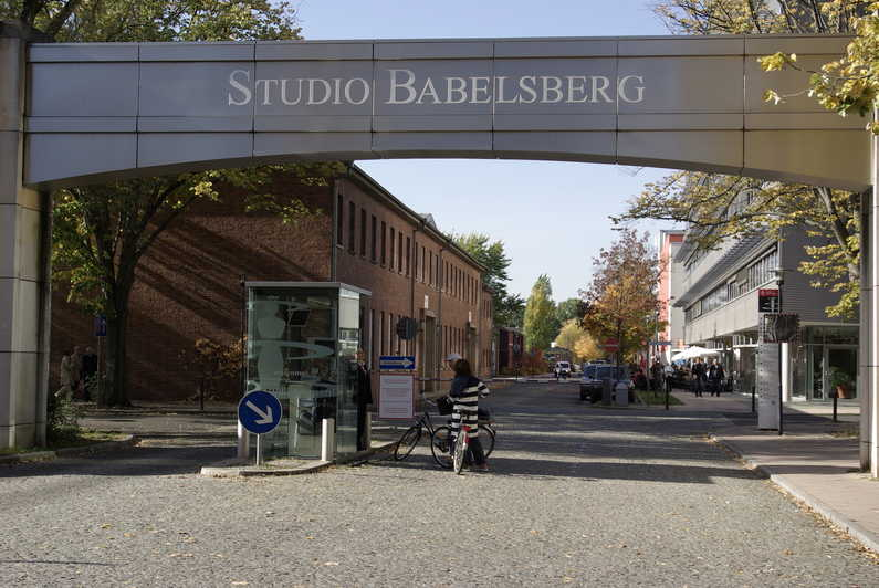entrance of babelsberg film studio where international movies like inglorious basterds, the pianist and cloud atlas was filmed in germany
