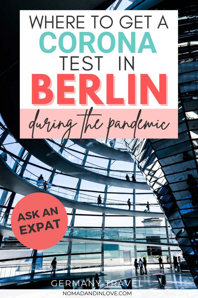 pinterest save image for where to get a corona test in berlin during the pandemic