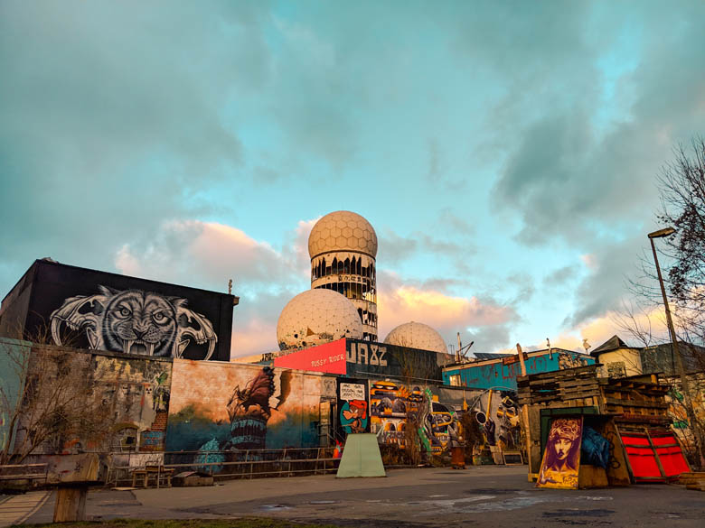teufelsberg in berlin is one of the best outdoor activities to do in berlin and also has the best street art and graffiti