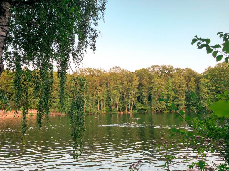 schlachtensee lake in berlin's grunewald neighborhood