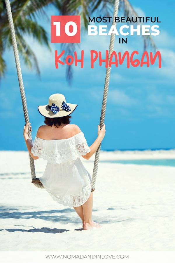 pinnable image for 10 best beaches in koh phangan travel guide