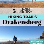 pinnable image for 5 best hiking trails in drakensberg royal natal national park