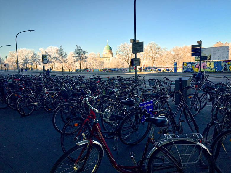 easily rent a bike in potsdam close to potsdam main train station