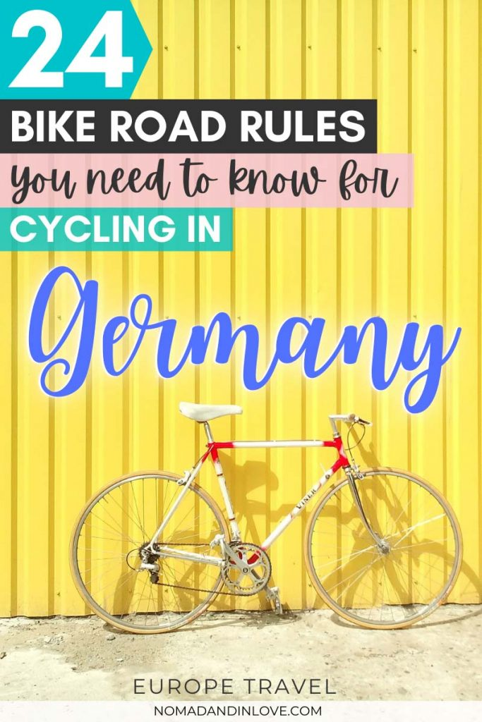 pinterest save image for 24 bike road rules for cycling in germany