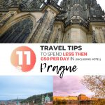 pinterest save image for budget travel tips for prague
