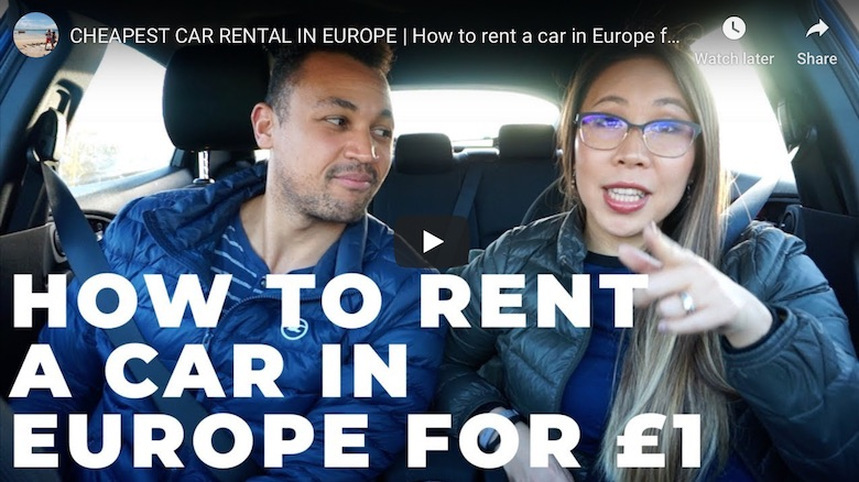 YouTube video of how to find the cheapest car hire in Europe using DriiveMe