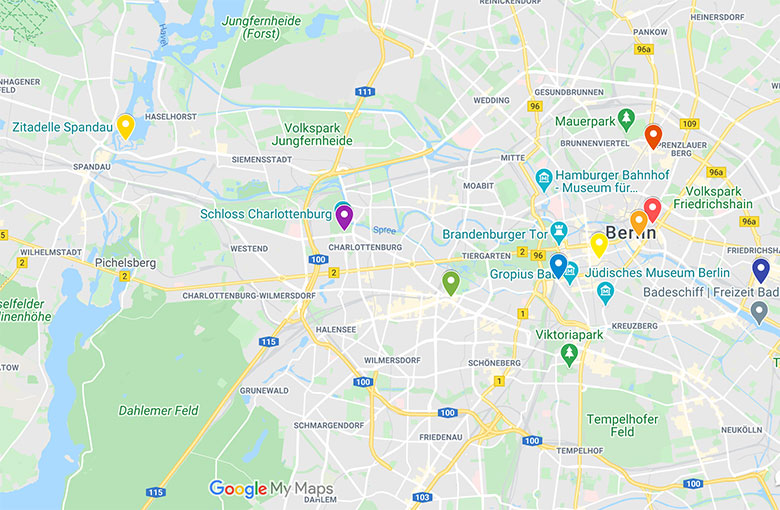 google map of christmas markets in berlin germany for 2020 with coronavirus rules and guidelines
