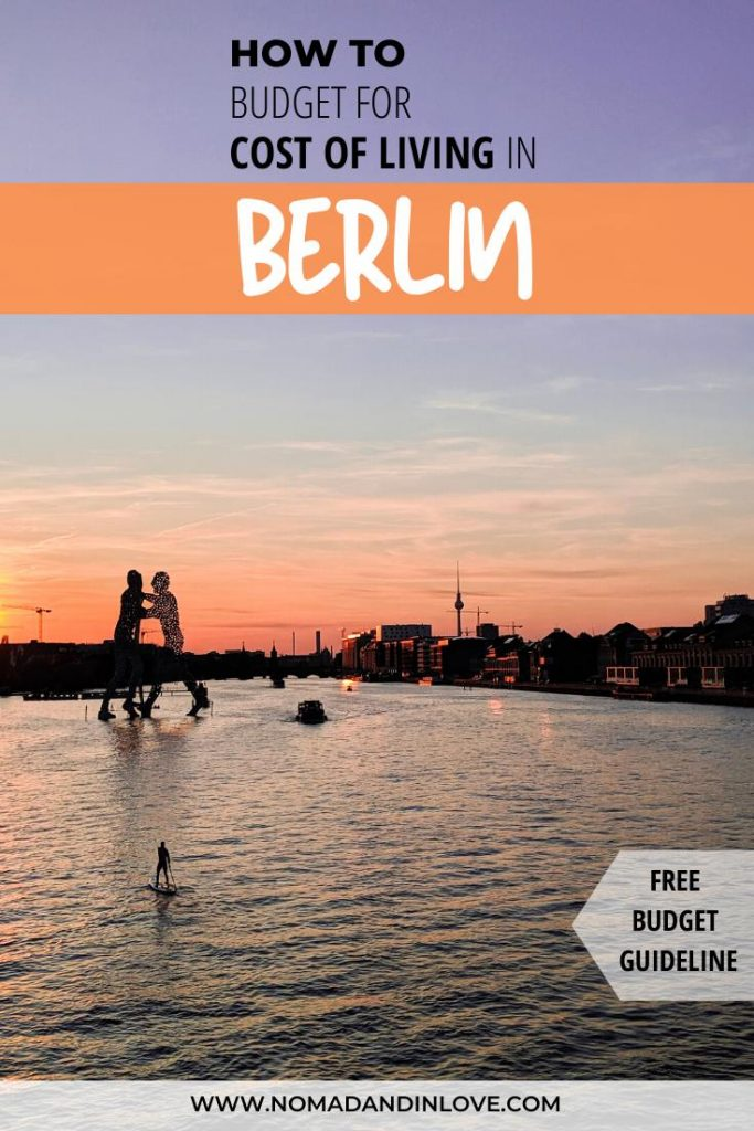 pinnable image to save what monthly expenses to budget for moving to berlin