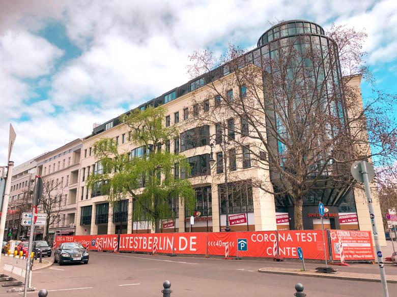 a corona testing center in Kurfurstendamm west of Berlin