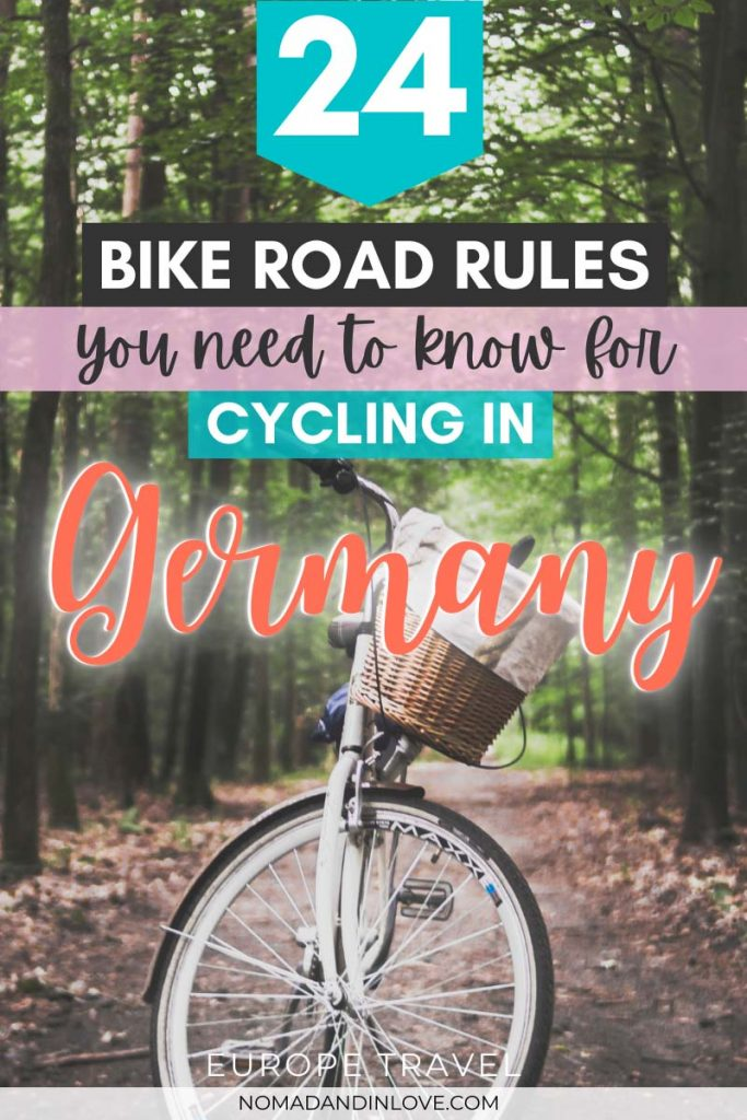 pinterest save image for 24 bike road rules and traffic laws to know for cycling in germany