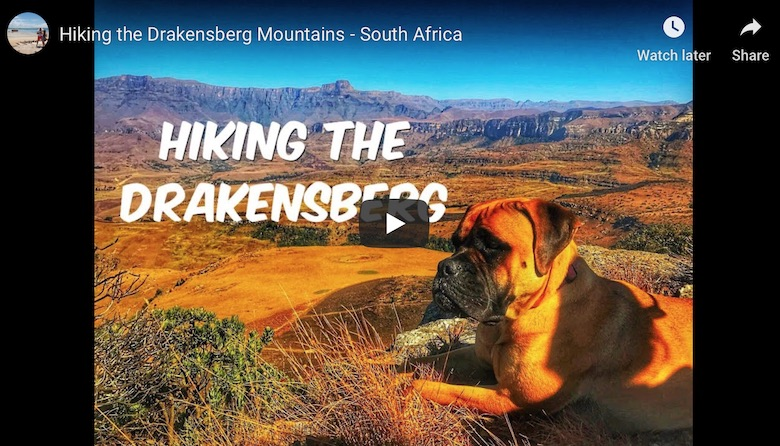 youtube link to hiking the drakensberg in south africa with family and children