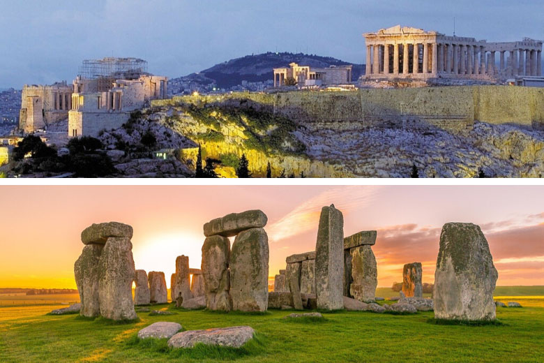 virtual tour of top unesco world heritage sites in europe like stonehenge and the acropolis of athens in greece