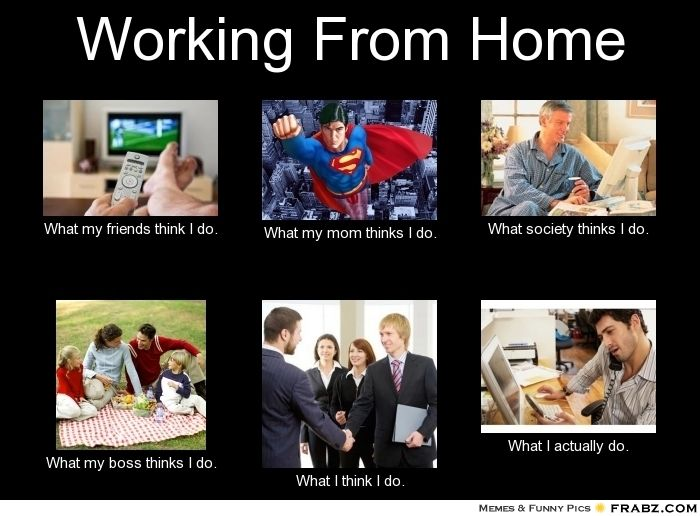 working from home meme what people think i do vs what i actually do