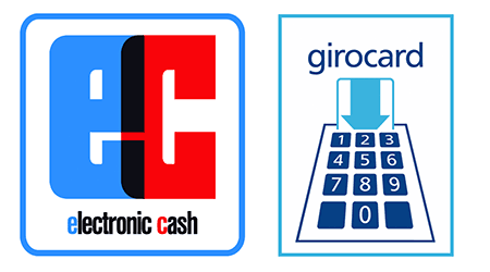 German current account logos for EC-Karte and girocard