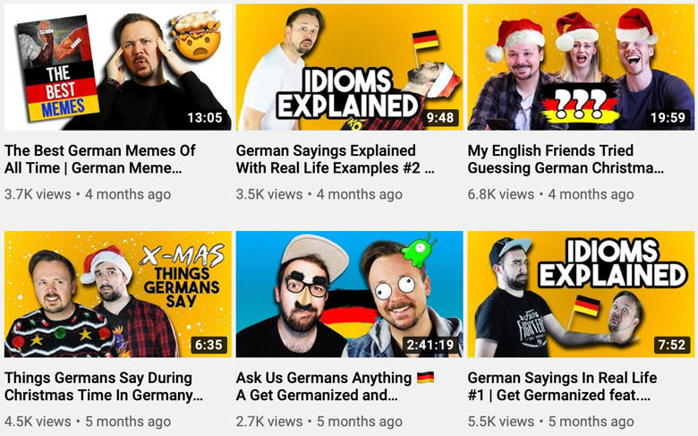 get germanized youtube channel videos