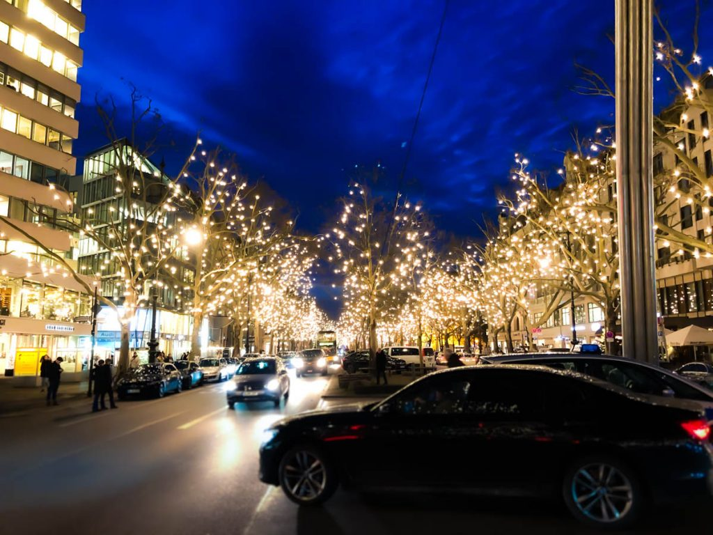 longest street lights in the world during christmas at Kurfürstendamm