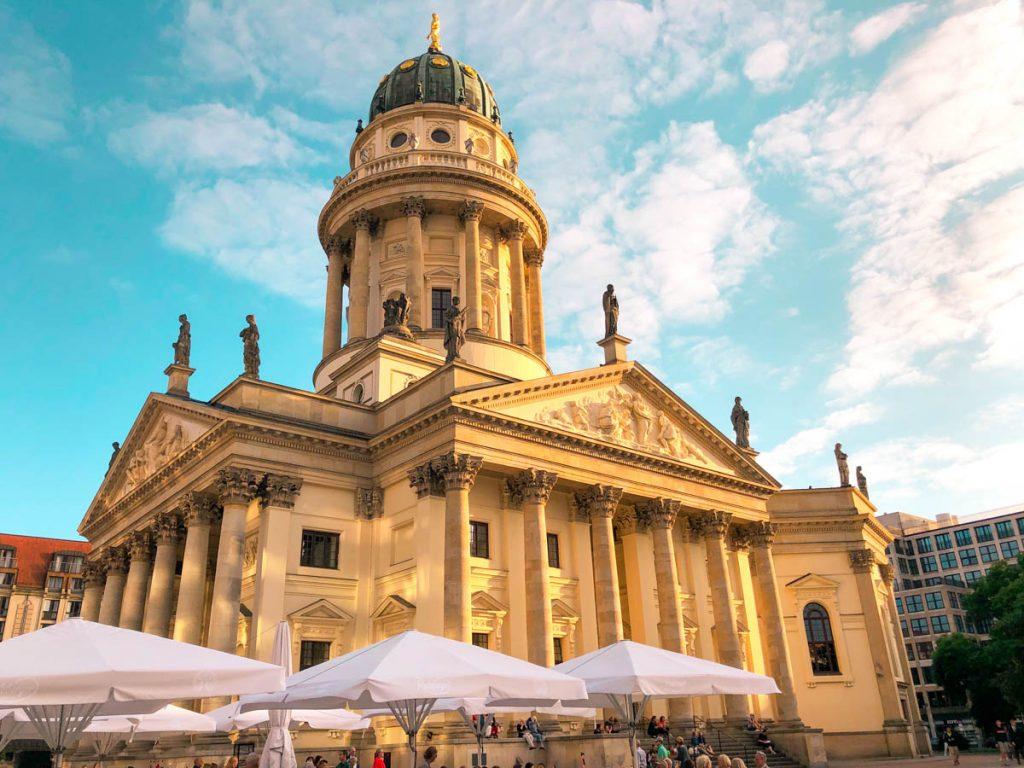 the Franzosischer Dom and the Deutsche Dom in berlin mitte