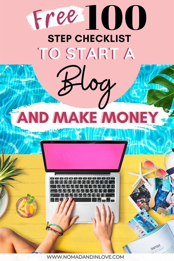 learn how to start a blog and make money online using an easy to follow checklist