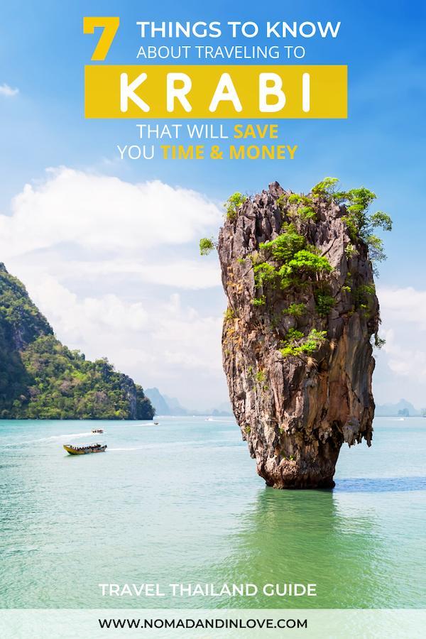 pinterest save image for krabi travel tips
