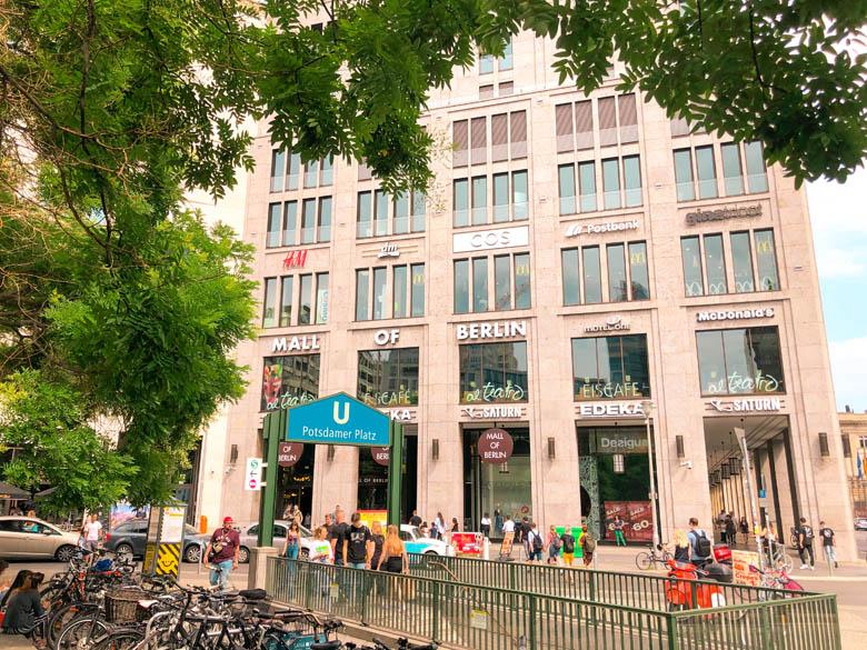 visiting mall of berlin during coronavirus and social distancing measures