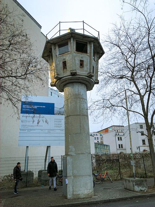 one of the last GDR watchtowers of the berlin wall history tour