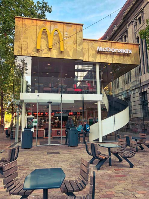 funky mcdonalds building and architectural design