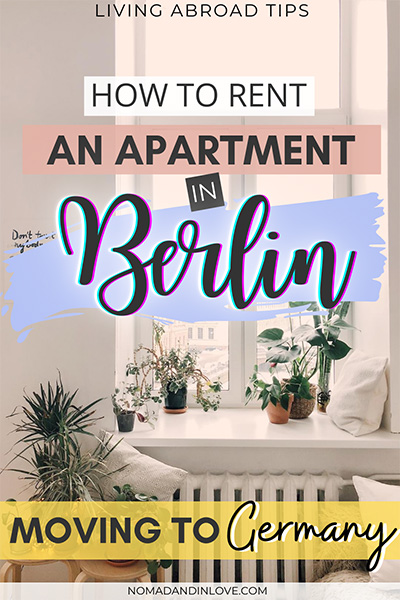pinterest save image for how to rent an apartment or flat in berlin moving to germany guide