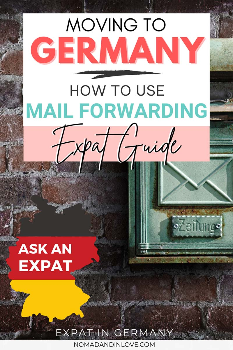 pinterest save image for expats moving to germany and a guide on how you can forward mail