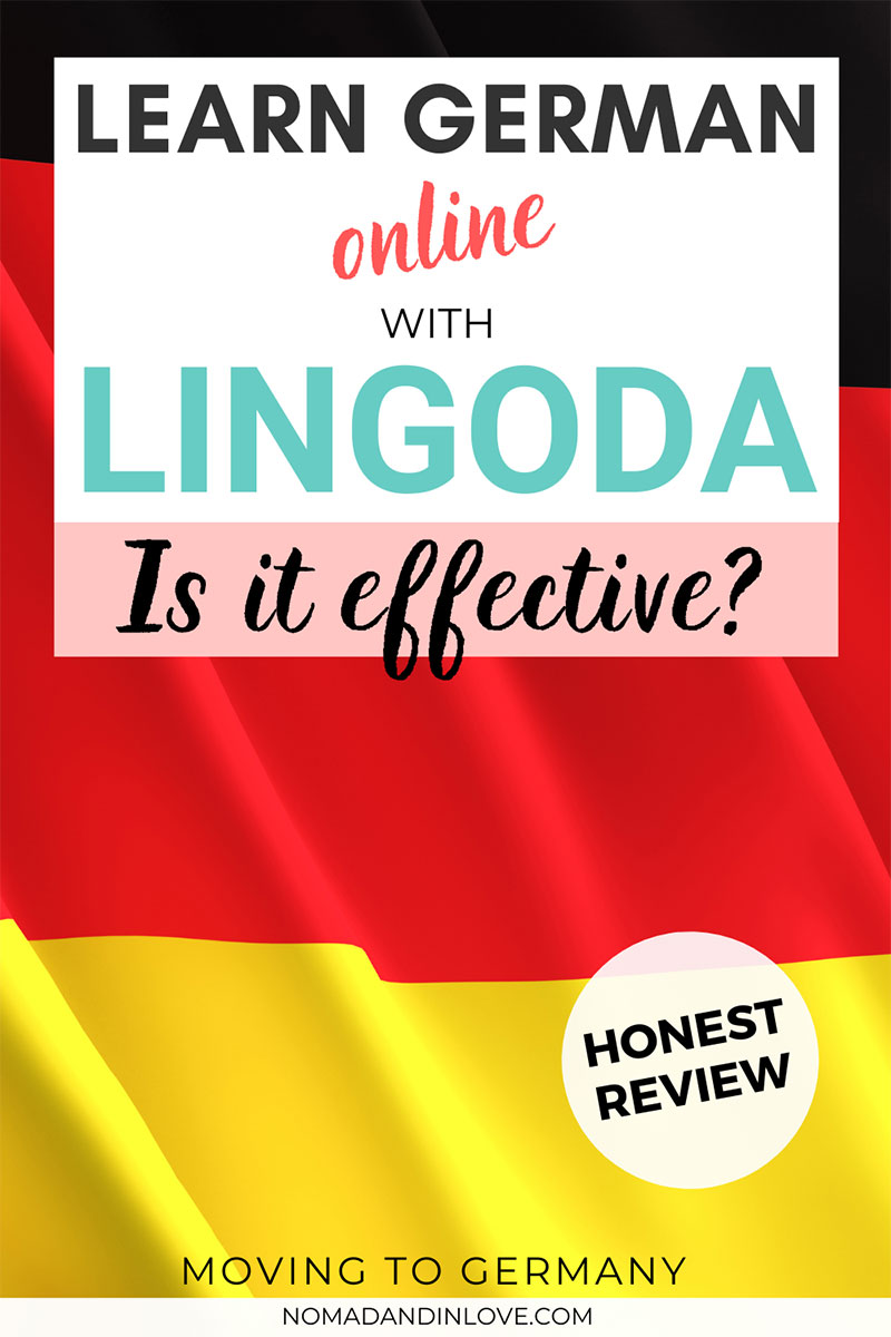 pinterest pin for a review on how effective it was learning german on lingoda