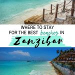pinnable image for guide on where to stay in zanzibar for best beaches