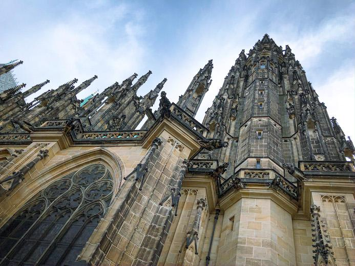 the gothic architecture of prague castle is a must-see
